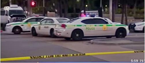 8 people shot at Martin Luther King Jnr memorial Florida / Photo screencap from Hezakya news via Youtube