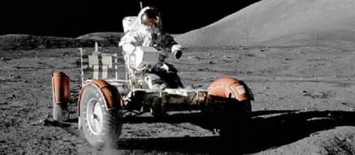 Apollo 17 lunar rover (Courtesy NASA)