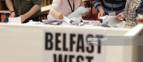 Counting of votes cast in the election for the Northern Irel ... - gettyimages.co.uk