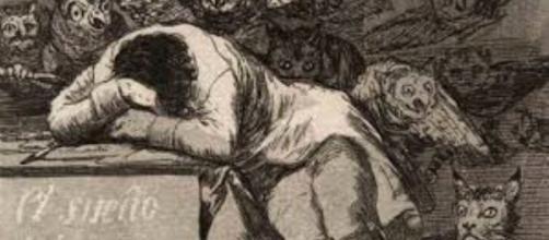 "Goya's ""The Sleep of Reason Produces Monsters"" FAIR USE grandhaventribune.com Creative Commons"