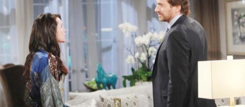 Quinn gives Ridge a piece of her mind, via soaps.sheknows.com