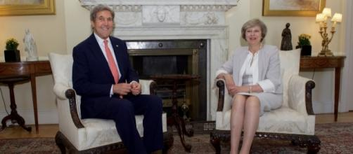 Sec. Kerry meets with PM May at No. 10, US government photo in public domain
