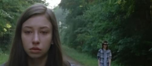 What does Enid do in 'The Walking Dead' season 7B? Image via Walking Fans/Photo Screencap via AMC/YouTube.com