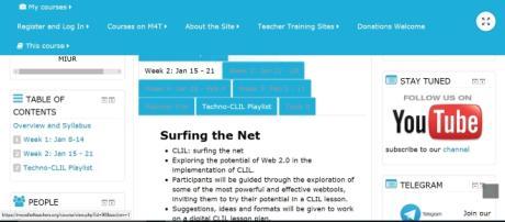 Le attività da svolgere la seconda settimana del corso Clil