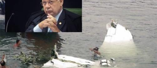 Avião com ministro Teori cai no mar em Paraty - RJ