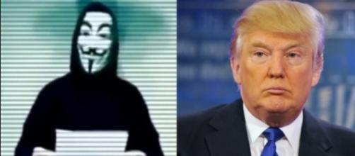 Grupo Anonymous voltou a atacar Trump (Foto: Reprodução/Daily Headlines)