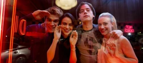 'Riverdale' cast KJ Apa (Archie), Camila Mendes (Veronica), Cole Sprouse (Jughead) & Lili Reinhart (Betty) / Photo from 'Zetaboards' - zetaboards.com