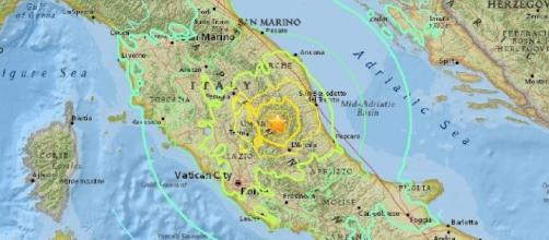 sisma 18 gennaio 2017: epicentro tra L'Aquila e Amatrice