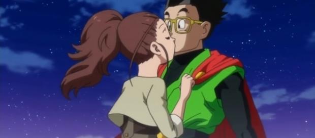 Beso de Gohan y Cocoa en el episodio 74.