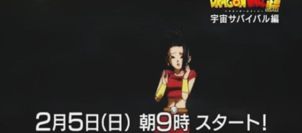 La chica Saiyajin en la serie Dragon Ball Super
