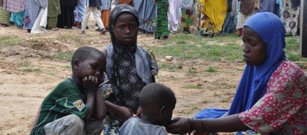 Un campo profughi in Nigeria in cui manca veramerte tutto.