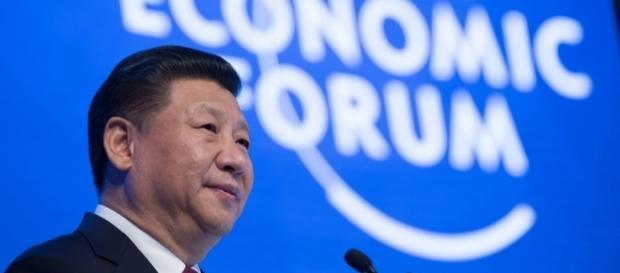 Xi Jinping durante encontro do Fórum Mundial de Economia, em Davos (Suíça)