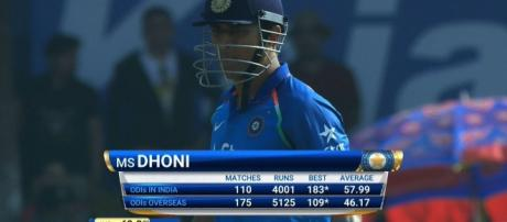 M S Dhoni scores 4000 runs in ODIS played in India (Image credits: Twitter.com/BCCI)