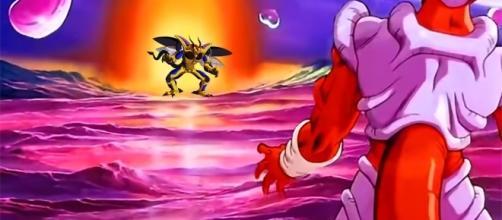 imagen referencial de un enfrentamiento entre ambos villanos de DBZ
