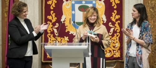 La entrega del premio Puente de Toledo a Emma Suárez del Cine Español en Carabanchel