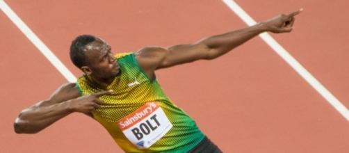 La tipica esultanza di Usain Bolt