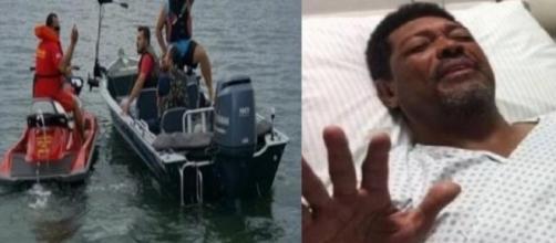Pastor Valdemiro fica no mar durante 15 horas.