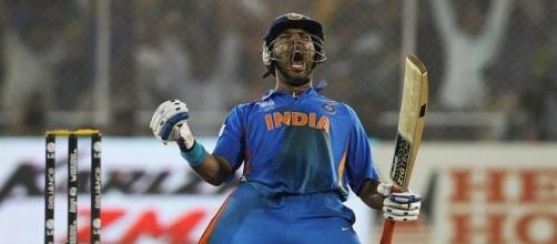 Yuvraj Singh in IND vs ENG 2nd ODI match (Image credits: Twitter.com/rajeventsindia)
