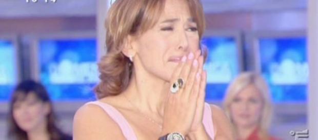 Barbara D'Urso di commuove in trasmissione