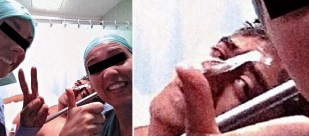 Selfie em hospital é feita antes da morte - Imagem/Daily Mail
