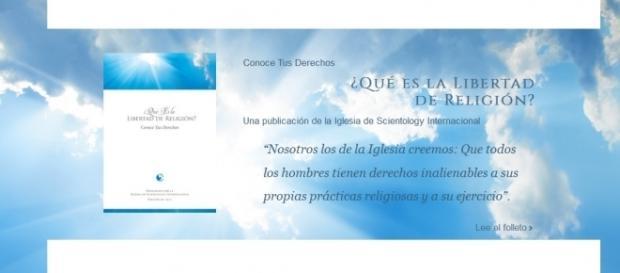Web www.scientologyreligion.es donde se puede descargar el librito