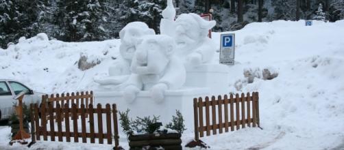 Epifania fredda con neve e vento forte
