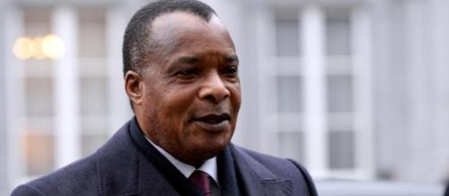 Sassou en arrivant aux Etats Unis