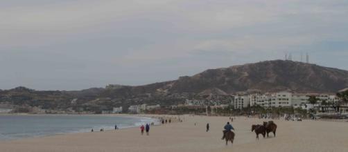Una de algunas playas cerca de San José del Cabo ante el Pacífico.