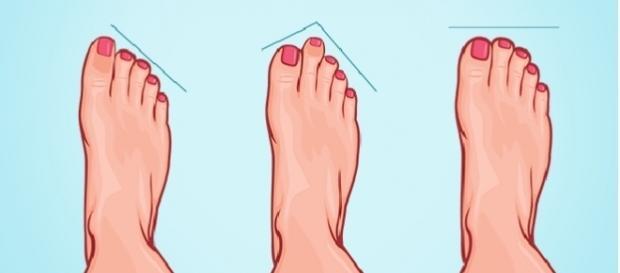 Existem três formatos de pés: grego, egípcio e romano