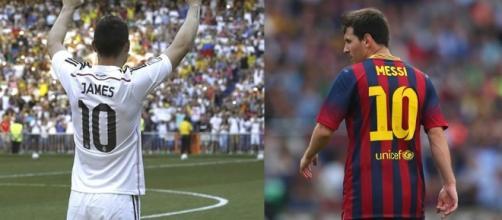 james rodriguez e lionel Messi