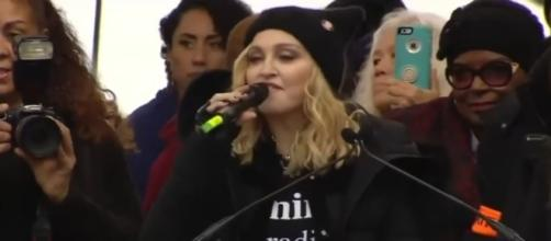 Madonna at Women's March, via YouTube