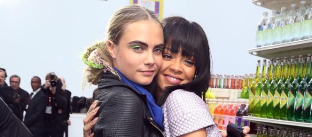cara Delavingne e Rihanna sul set del film ma anche amiche nella vita