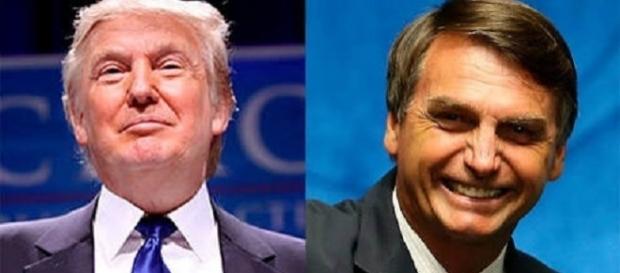 Donald Trump (EUA) e Jair Bolsonaro (Brasil)