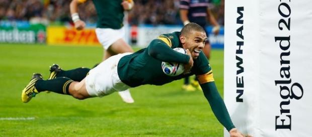 South Africa's Bryan Habana humbled at matching the great Jonah ... - rugbyworldcup.com