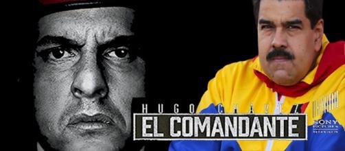 """IMAGEN DE TELENOVELA """"EL COMANDANTE"""" Y NICOLAS MADURO"""