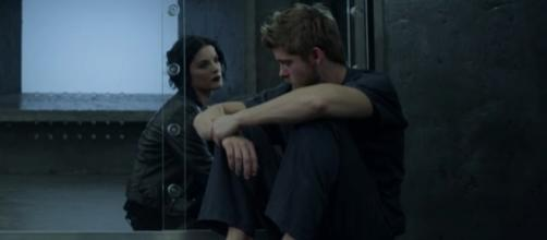 Jane (Jamie Alexander) and Roman (Luke Mitchell) in 'Blindspot'/Photo via screencap, 'Blindspot'/NBC