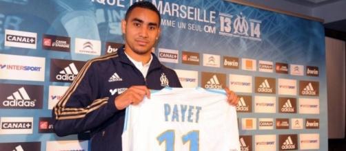 Payet avec le maillot de Marseille.