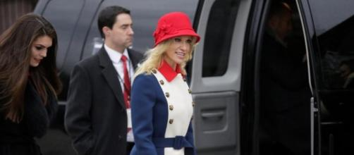 Trump advisor Kellyanne Conway's £3000 Gucci inauguration outfit ... - thesun.co.uk