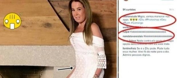 A ex de Zezé Di Camargo ficou tão chateada com os comentários maldosos, que acabou deletando a foto onde supostamente usou photoshop