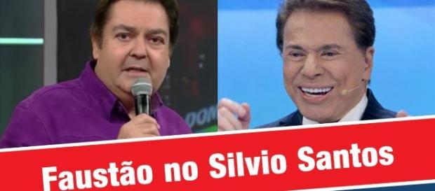 Faustão e Silvio já estiveram lado a lado, ao vivo