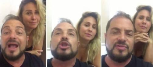 Conrado grava vídeo para defender casa de festas de Andreia Sorvetão