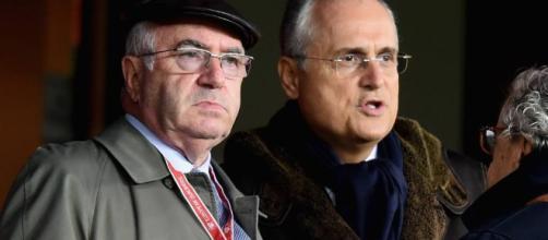 Tavecchio con il presidente della Lazio Lotito