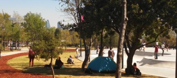 A un costado de la Avenida de los Constituyentes el Parque de la Patineta.