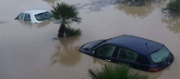 Alluvioni in Sicilia e Calabria.