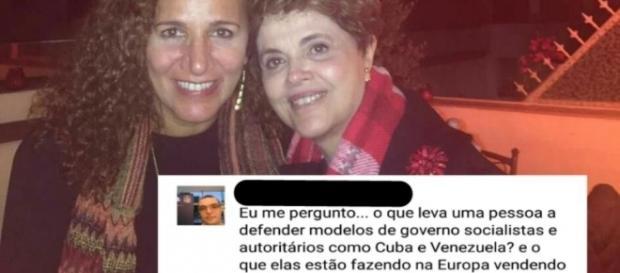 Jandira Feghali e Dilma Rousseff na Espanha