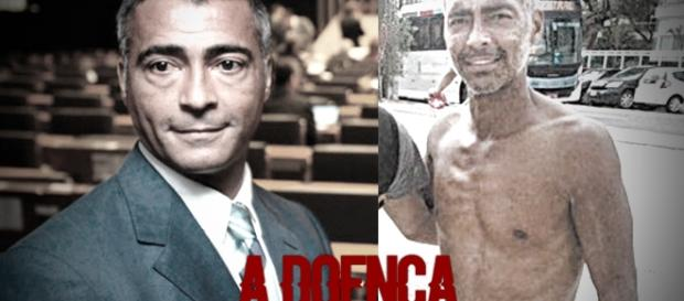 Magreza excessiva de Romário causa abalo na internet