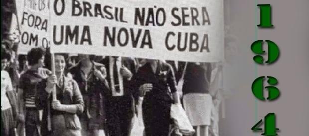 Passeata contra o governo de Jango em 1964