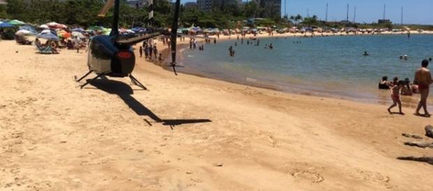 Vereador do PSDB foi preso ao pousar helicóptero em praia