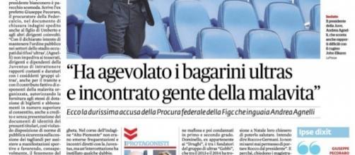 Andrea Agnelli accusato da Giuseppe Pecoraro, Il Fatto Quotidiano