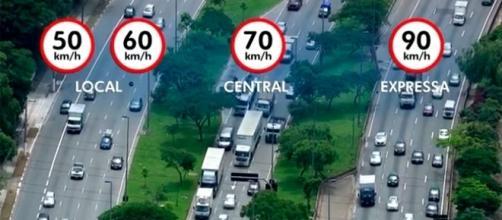 Como ficarão os limites de velocidade nas marginais